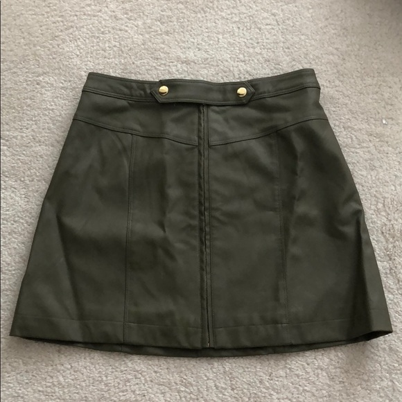 Abercrombie & Fitch Dresses & Skirts - abercrombie faux olive leather skirt 0